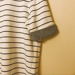 black and white striped Ann Taylor top